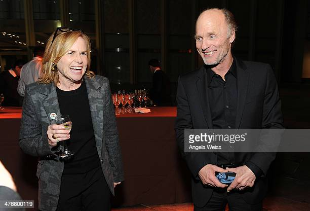 Amy Madigan and Ed Harris attend the Screening of IFC Films' 'The Face of Love' at LACMA on March 3 2014 in Los Angeles California