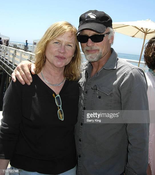 Amy Madigan and Ed Harris during Malibu Celebration of Film Press Conference at Malibu Pier in Malibu CA United States