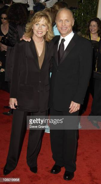 Amy Madigan and Ed Harris during The 60th Annual Golden Globe Awards Arrivals at The Beverly Hilton Hotel in Beverly Hills California United States