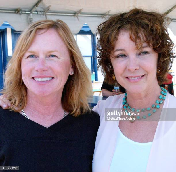 Amy Madigan and Kathleen Quinlan during 2006 Malibu Film Festival Press Conference at Malibu Pier in Malibu California United States