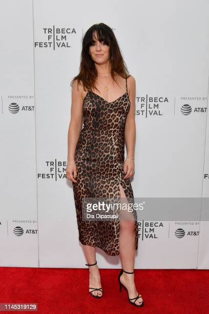 """Amy Manson attends the """"Run"""" screening during the 2019 Tribeca Film Festival at Village East Cinema on April 26, 2019 in New York City."""