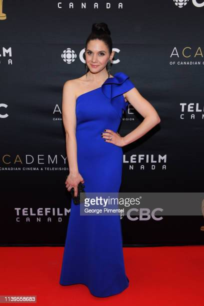 Amy Matysio attends the 2019 Canadian Screen Awards Broadcast Gala at Sony Centre for the Performing Arts on March 31 2019 in Toronto Canada