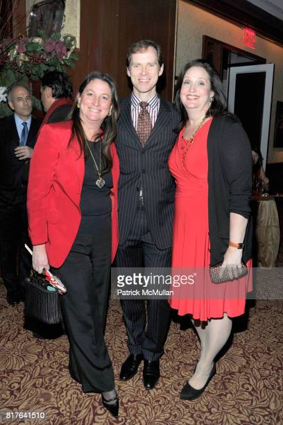 Amy Mazzola Flynn Charles Askegard and Alison Mazzola attend ANNE HEARST MCINERNEY JAY MCINERNEY and GEORGE FARIAS Holiday Party at 21 Club on...