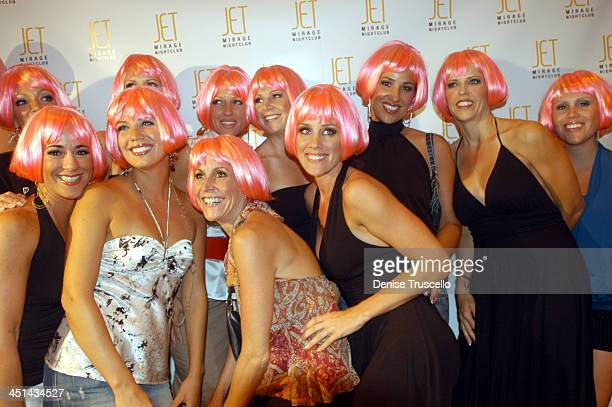 Amy McCarthy and Friends during Jenny McCarthy Hosts Her Sister Amy McCarthy's Birthday Party at JET Nichtcub at The Mirage Hotel and Casino resort...