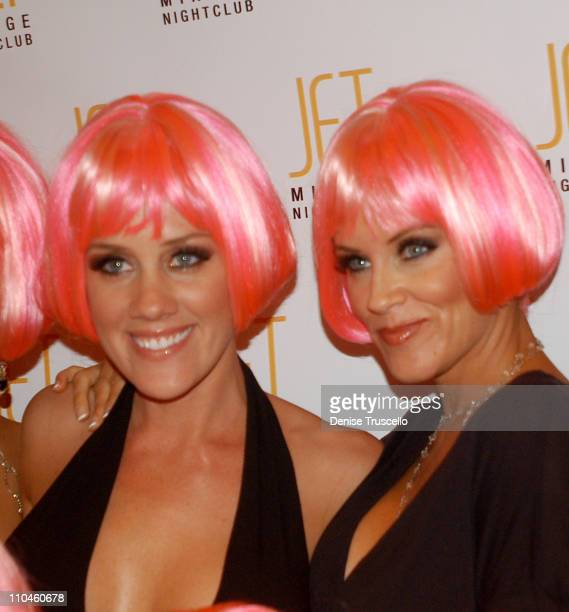 Amy McCarthy and Jenny McCarthy during Jenny McCarthy Hosts Her Sister Amy McCarthy's Birthday Party at JET Nichtcub at The Mirage Hotel and Casino...