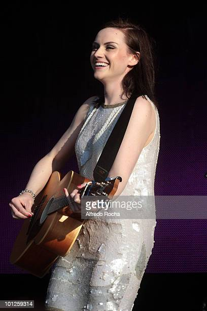 Amy McDonald performs at Day 4 of Rock In Rio on May 29 2010 in Lisbon Portugal