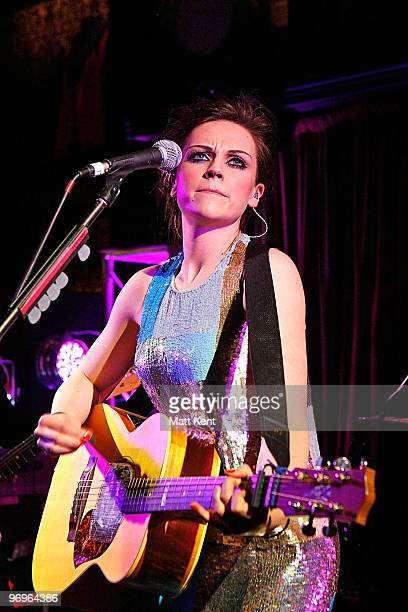 Amy McDonald performs for Absolute Radio Sessions at Hard Rock Cafe Old Park Lane on February 22 2010 in London England
