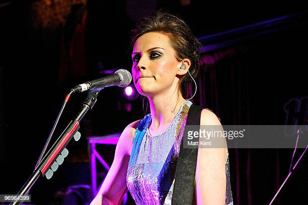 Amy McDonald performs for Absolute Radio Sessions at Hard Rock Cafe, Old Park Lane on February 22, 2010 in London, England.