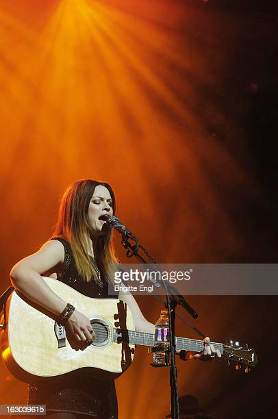 Amy McDonald performs on stage in concert at London Palladium on March 3 2013 in London England