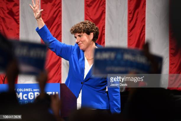 Amy McGrath address supporters after her loss during her Election Night Event at the EKU Center for the Arts on November 6 2018 in Richmond Kentucky
