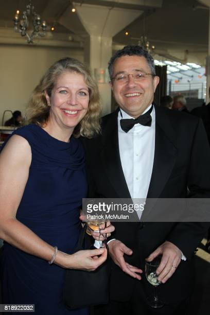 Amy McIntosh and Jeffrey Toobin attend THE AUTHOR'S GUILD DINNER at Tribeca Rooftop on May 24th 2010 in New York City