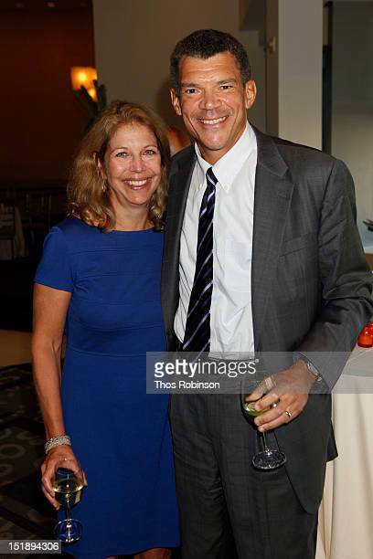 Amy McIntosh and Mark Whitaker managing editor of CNN worldwide attend Book Launch For Jeffrey Toobin's The Oath at Time Warner Center on September...