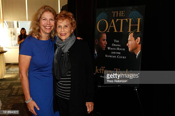 Amy McIntosh and Marlene Sanders attend Book Launch For Jeffrey Toobin's The Oath at Time Warner Center on September 12 2012 in New York City