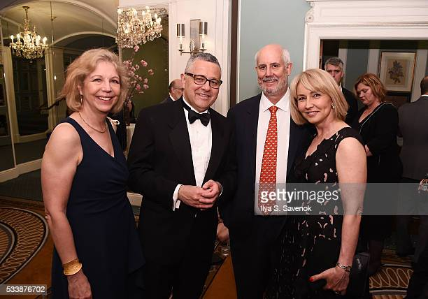 Amy Mcintosh Jeffrey Toobin Andy Nibley and Kelly Colbert attend Bideawee Ball 2016 at The Pierre Hotel on May 23 2016 in New York City