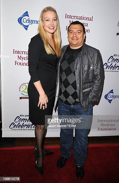 Amy Mencia and comedian Carlos Mencia arrive at the 4th Annual Comedy Celebration Benefiting the Peter Boyle Fund hosted by the International Myeloma...