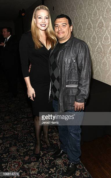 Amy Mencia and comedian Carlos Mencia attend the 4th Annual Comedy Celebration Benefiting the Peter Boyle Fund hosted by the International Myeloma...