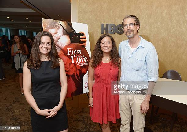 Amy Meselson filmmaker/film subject Nina Davenport and film subject Eric Oleson attend the special screening of HBO Documentary 'First Comes Love' at...