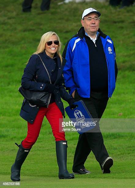 Amy mickelson pictures and photos getty images amy mickelson walks the course with alex salmond first minister of scotland during the singles matches junglespirit Images