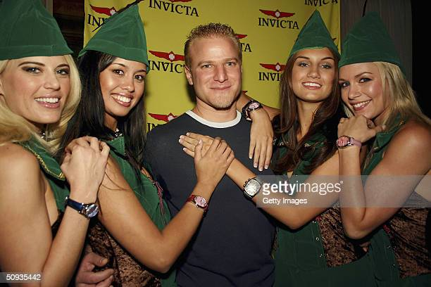 Amy Miller Rachael Mortensen Eyal Lalo Andrea Tiede and Rachelle Leah pose for a photo on June 5 2004 in Las Vegas Nevada
