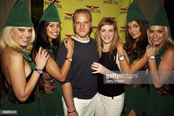 Amy Miller Rachael Mortensen Eyal Lalo JL Poeroy Andrea Tiede and Rachelle Leah pose for a photo on June 5 2004 in Las Vegas Nevada