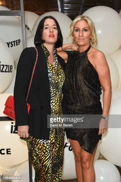 Amy Molyneaux and Helen Johnson attend the Izzue x Ponystep London Fashion Week party at Mare Street Market on September 16 2018 in London England