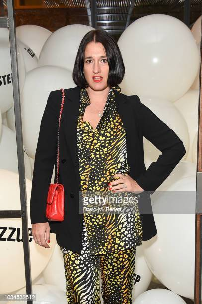 Amy Molyneaux attends the Izzue x Ponystep London Fashion Week party at Mare Street Market on September 16 2018 in London England