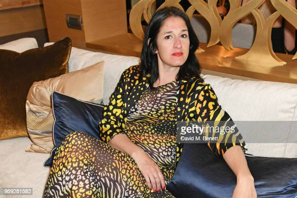 Amy Molyneaux attends the Lark and Berry launch party on a private yacht during the 71st Cannes Film Festival on May 16 2018 in Cannes France