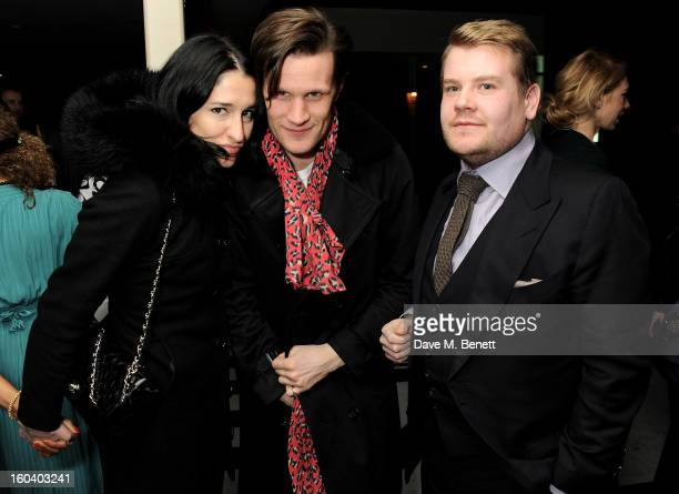 Amy Molyneaux Matt Smith and James Corden attend the InStyle Best Of British Talent party in association with Lancome and Avenue 32 at Shoreditch...