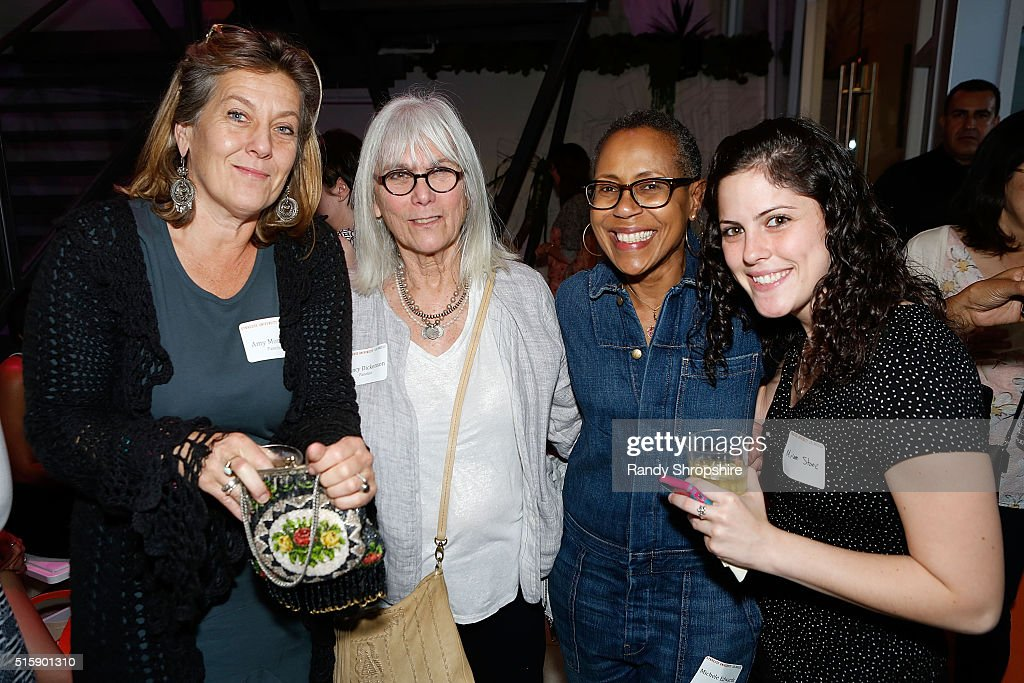 Amy Morrison, Nancy Dickenson, Michele Edwards and Miriam Stone attend the Syracuse University Sophie Screening on March 15, 2016 in Beverly Hills, California.