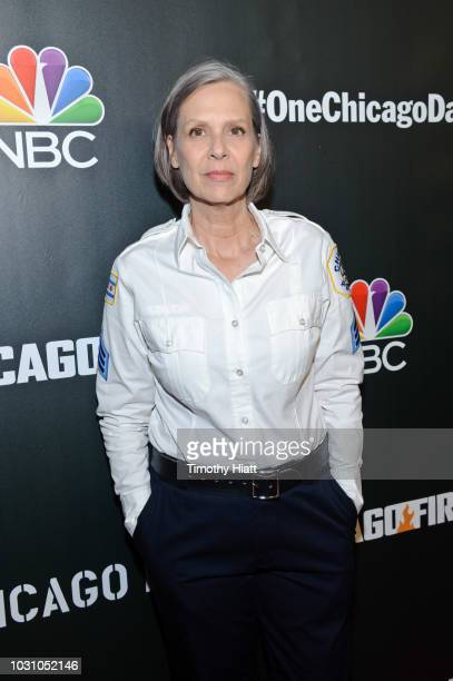 Amy Morton attends the 2018 press day for 'Chicago Fire' 'Chicago PD' and 'Chicago Med' on September 10 2018 in Chicago Illinois