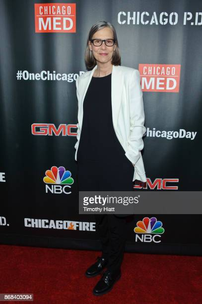 Amy Morton attends the One Chicago party during NBC's 'One Chicago' press day on October 30 2017 in Chicago Illinois