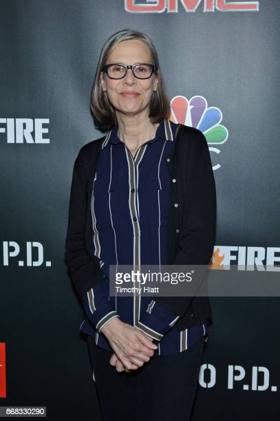 Amy Morton attends the press junket for 'One Chicago' on October 30 2017 in Chicago Illinois