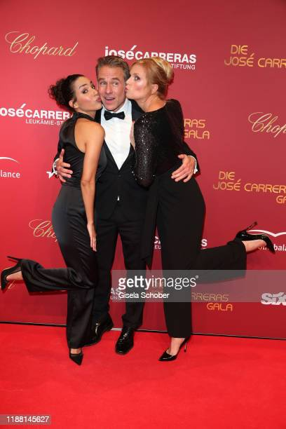Amy Mussul Marco Girnth Melanie Marschke during the 25th annual Jose Carreras Gala on December 12 2019 at Messe Leipzig in Leipzig Germany