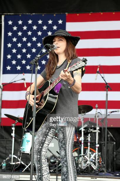 Amy Nelson of Folk Uke performs in concert at Willie Nelson's 45th 4th Of July Picnic at the Austin360 Amphitheater on July 4 2018 in Austin Texas