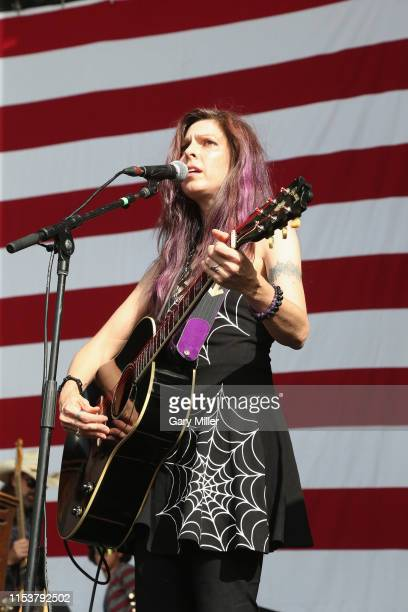Amy Nelson of Folk Uke performs in concert during Willie Nelson's 4th of July Picnic at Austin360 Amphitheater on July 4 2019 in Austin Texas