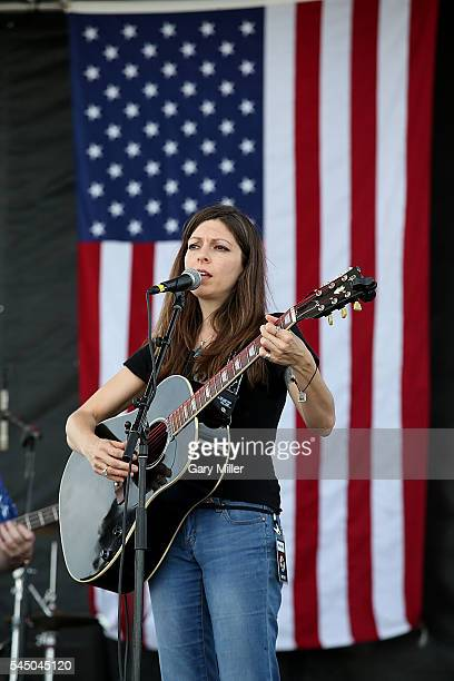 Amy Nelson performs in concert with Folk Uke during the 43rd Annual Willie Nelson 4th of July Picnic at the Austin360 Amphitheater on July 4 2016 in...