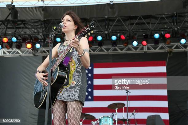 Amy Nelson performs in concert with Folk Uke during the annual Willie Nelson 4th of July Picnic at the Austin360 Amphitheater on July 4 2017 in...