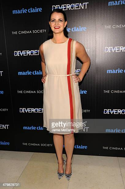 Amy Newbold attends the Marie Claire The Cinema Society screening of Summit Entertainment's Divergent at Hearst Tower on March 20 2014 in New York...