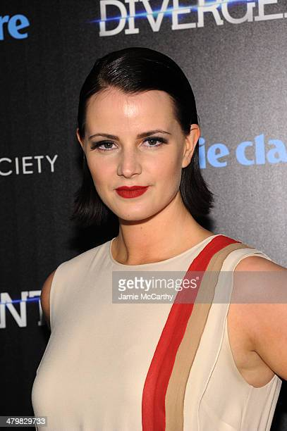 Amy Newbold attends the Marie Claire The Cinema Society screening of Summit Entertainment's 'Divergent' at Hearst Tower on March 20 2014 in New York...