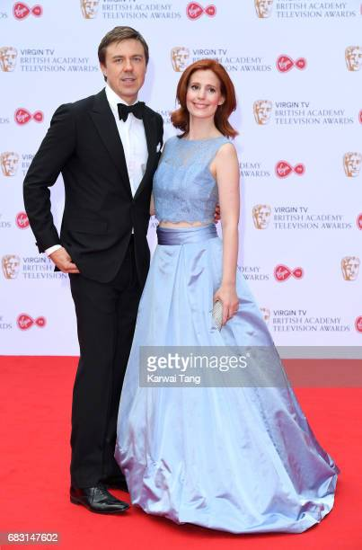 Amy Nuttal and Andrew Buchan attend the Virgin TV BAFTA Television Awards at The Royal Festival Hall on May 14 2017 in London England