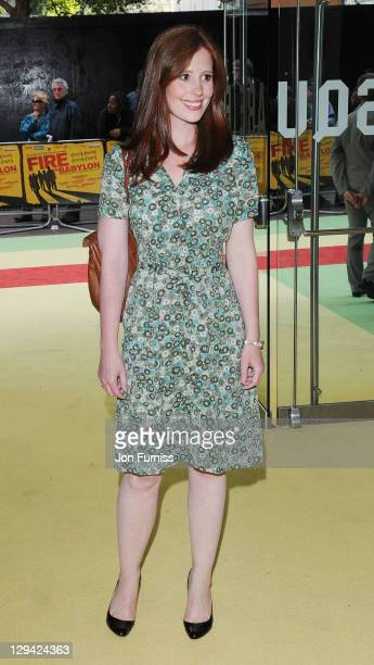 Amy Nuttall attends the European premiere of 'Fire in Babylon' at Odeon Leicester Square on May 9 2011 in London England