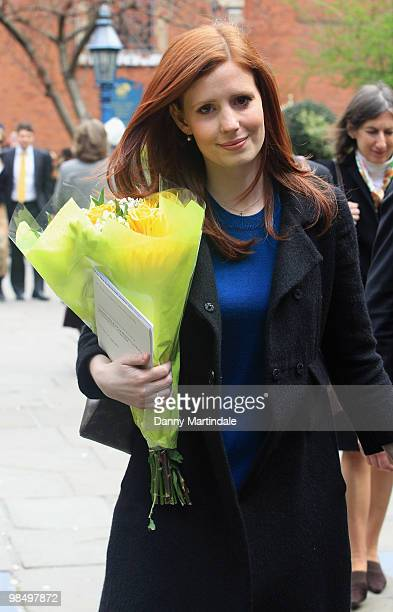 Amy Nuttall attends the funeral of Christopher Cazenove held at St Paul's Church in Covent Garden on April 16 2010 in London England