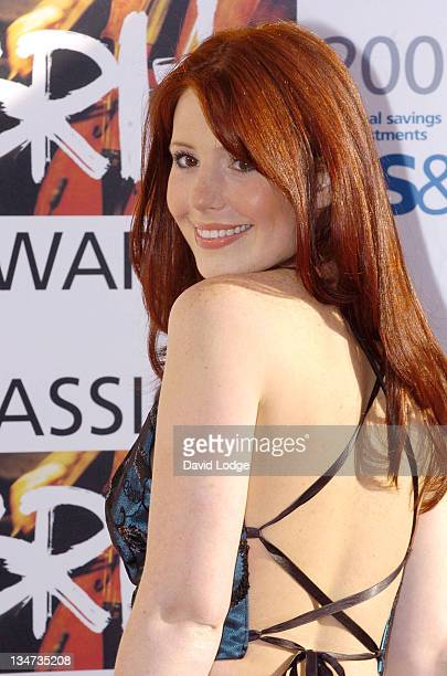 Amy Nuttall during Classical Brit Awards 2005 at Royal Albert Hall in London Great Britain