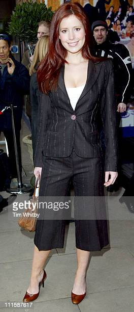Amy Nuttall during TRIC Awards 2005 Arrivals at Grosvenor House in London Great Britain