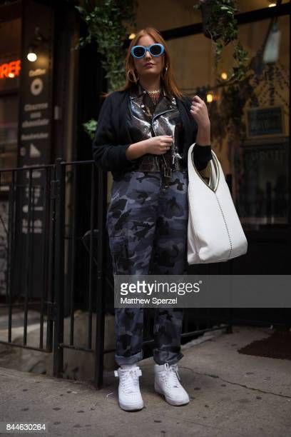Amy Osborn is seen attending Linder during New York Fashion Week wearing Toga, Prada on September 8, 2017 in New York City.