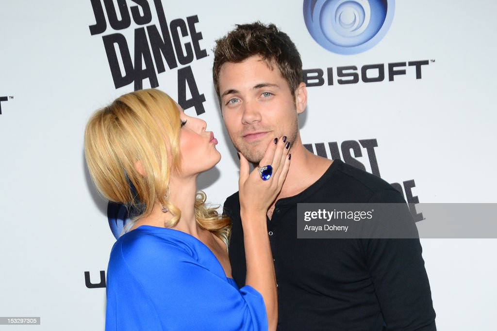 Amy Paffrath and Drew Seeley attend The Launch Of Just Dance 4 presented by Ubisoft at Lexington Social House on October 2, 2012 in Hollywood, California.