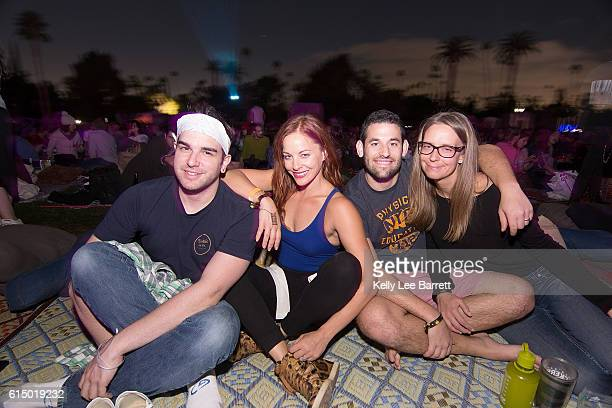 Amy Paffrath and friends attend Cinespia's screening of 'Death Becomes Her' held at Hollywood Forever on October 15 2016 in Hollywood California