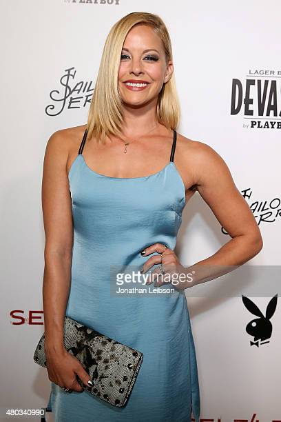 Amy Paffrath attends the Playboy And Gramercy Pictures' Self/less Party on July 10 2015 in San Diego California