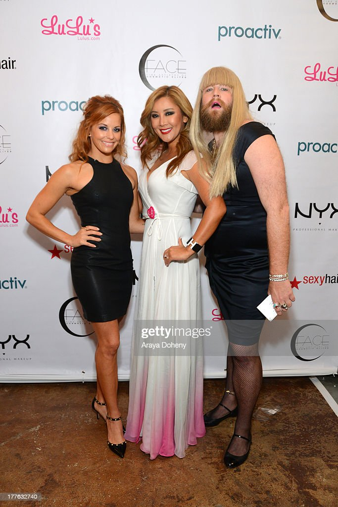 Amy Paffrath, Toni Ko, Founder & Chief Creative Director NYX Cosmetics and P'Trique attend the NYX Cosmetics FACE Awards at Beautycon at Siren Studios on August 24, 2013 in Hollywood, California.