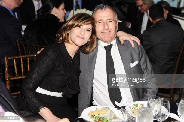 Amy Pascal and Bernard Weinraub attend attend An Evening Benefiting The L.A. Gay & Lesbian Center Honoring Amy Pascal and Ralph Rucci on March 21,...
